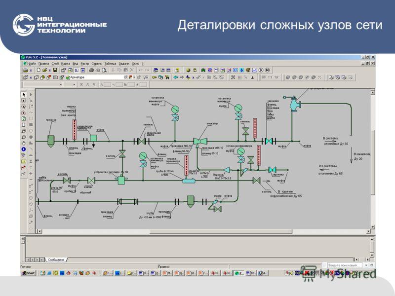 Деталировки сложных узлов сети