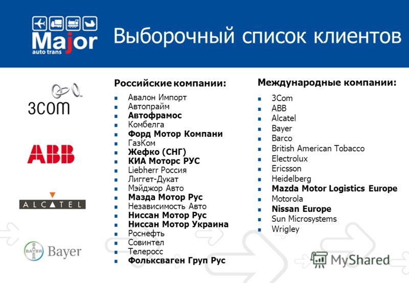 Наши партнеры Экспедиторские компанииТранспортные компанииАвиакомпании