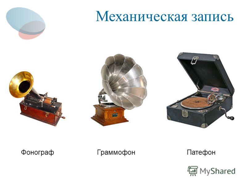 Механическая запись ГраммофонПатефон Фонограф