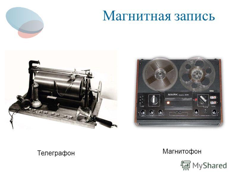 Магнитная запись Телеграфон Магнитофон