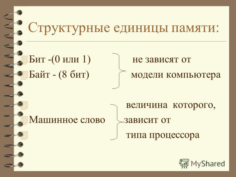 Принципы Джона фон Неймана. 4 Двоичное кодирование 4 (использование двоичной арифметики и кодирование 4 команд в двоичном виде) 4 Хранимая программа 4 (программа хранится в памяти. АЛУ и УУ обрабатывают программу, извлекая команды из памяти. Данные т