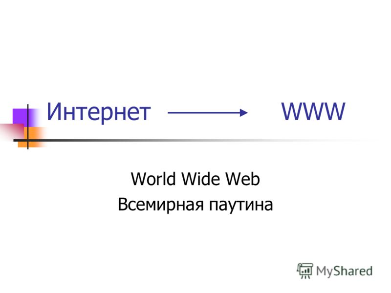 Интернет WWW World Wide Web Всемирная паутина