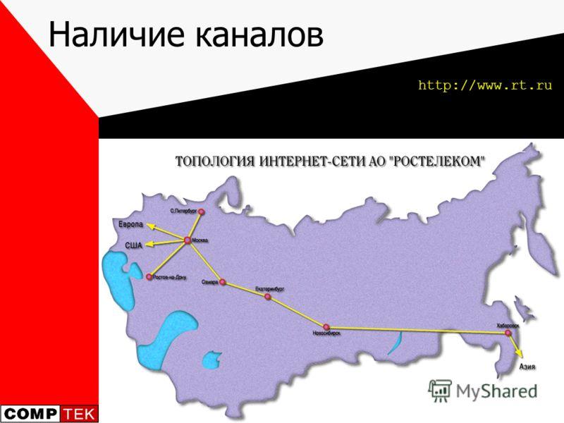 Наличие каналов http://www.rt.ru