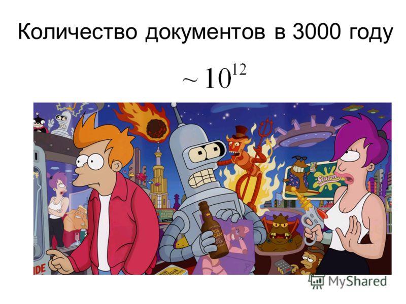 Количество документов в 3000 году