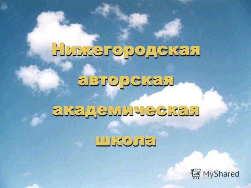 Нижегородская авторская академическая школа Нижегородская авторская академическая школа