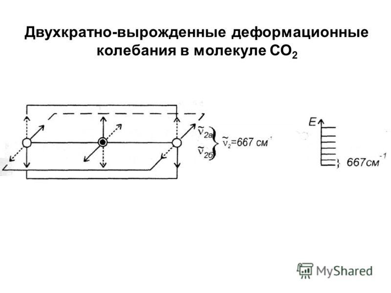 Двухкратно-вырожденные деформационные колебания в молекуле СО 2