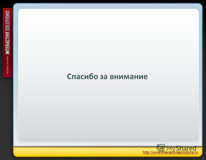 Спасибо за внимание http://www.interactivesolutions.ru