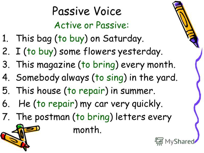 thesis passive voice