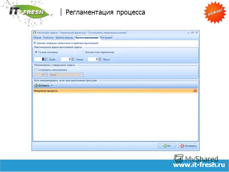 www.it-fresh.ru Регламентация процесса