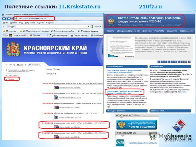 6 Полезные ссылки: IT.Krskstate.ru 210fz.ru