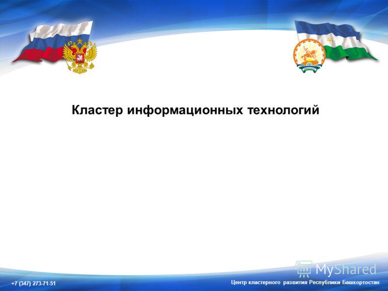 +7 (347) 273-71-51 Центр кластерного развития Республики Башкортостан Кластер информационных технологий