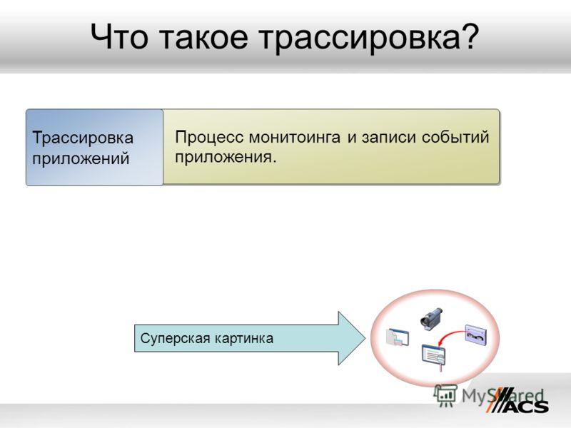 Что такое трассировка? Процесс монитоинга и записи событий приложения. Трассировка приложений Суперская картинка
