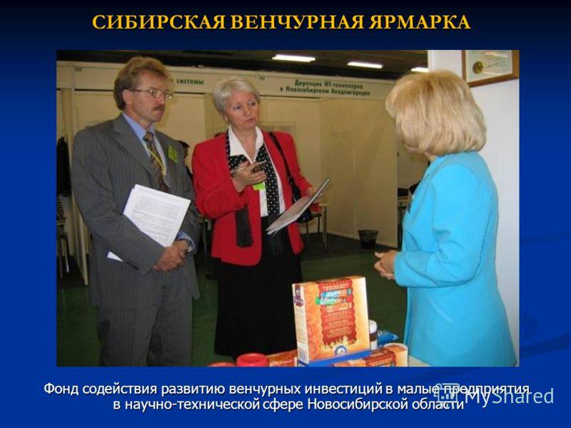 СИБИРСКАЯ ВЕНЧУРНАЯ ЯРМАРКА Фонд содействия развитию венчурных инвестиций в малые предприятия в научно-технической сфере Новосибирской области