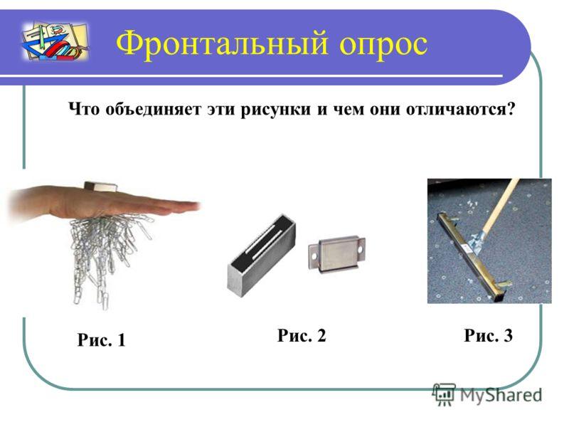 Фронтальный опрос Что объединяет эти рисунки и чем они отличаются? Рис. 1 Рис. 2Рис. 3