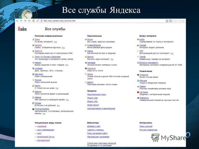 LOGO 26 Все службы Яндекса