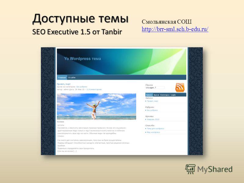 SEO Executive 1.5 от Tanbir Смольянская СОШ http://brr-sml.sch.b-edu.ru/ Доступные темы
