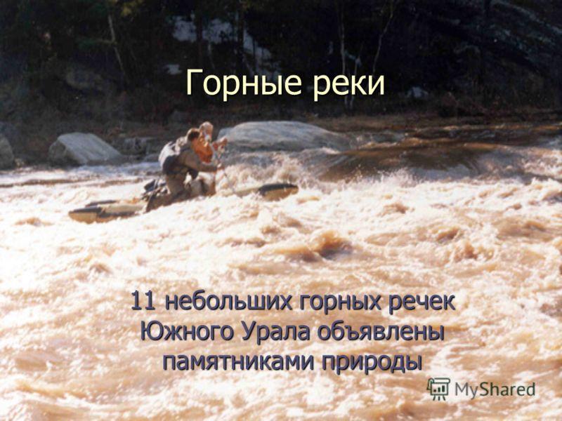 Горные реки 11 небольших горных речек Южного Урала объявлены памятниками природы