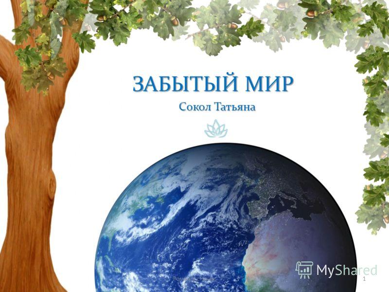 ЗАБЫТЫЙ МИР Сокол Татьяна 1Роман в стихах.