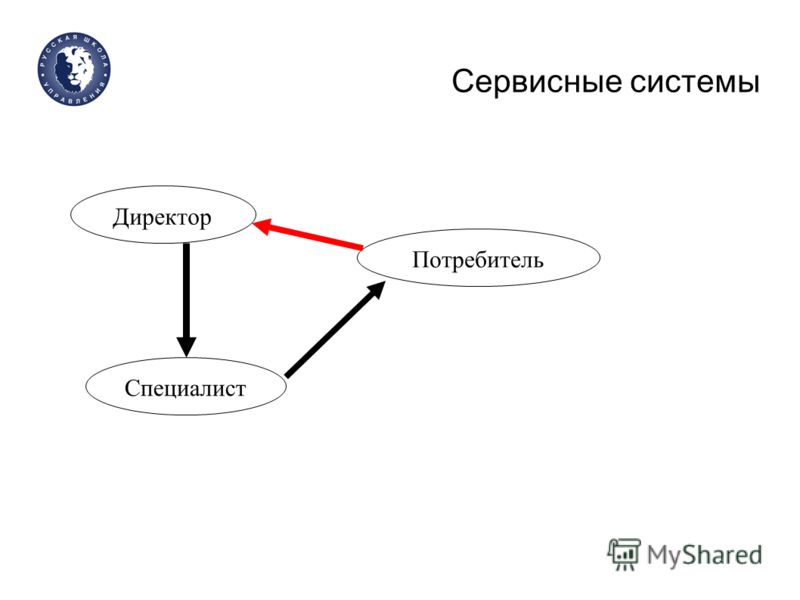 Сервисные системы Директор Специалист Потребитель