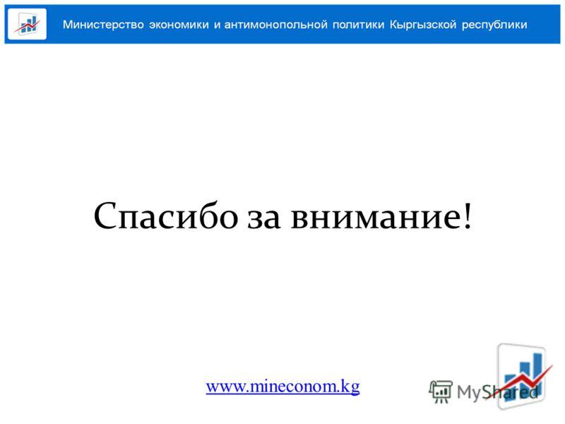 Спасибо за внимание! www.mineconom.kg
