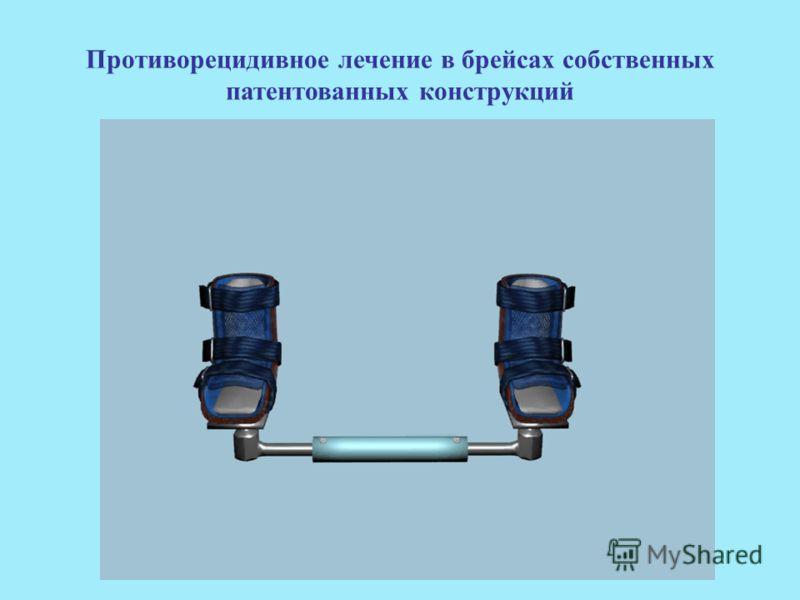 Противорецидивное лечение в брейсах собственных патентованных конструкций