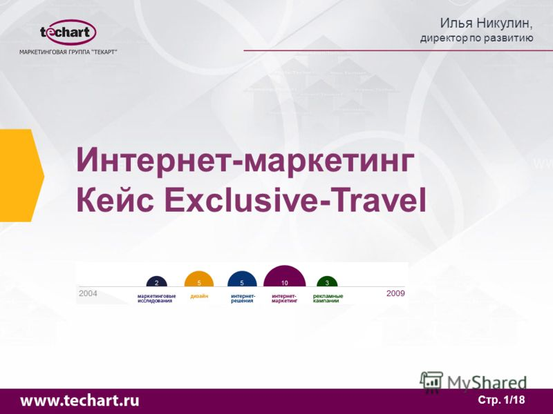 Илья Никулин, директор по развитию Стр. 1/18 Интернет-маркетинг Кейс Exclusive-Travel