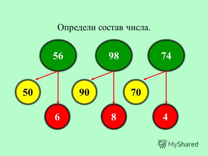 Определи состав числа. 569874 509070 684