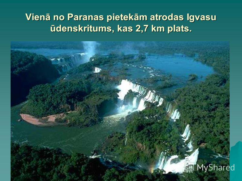 Vienā no Paranas pietekām atrodas Igvasu ūdenskritums, kas 2,7 km plats.