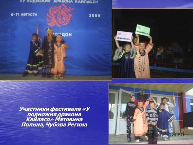 Участники фестиваля «У подножия дракона Кайласо» Матявина Полина, Чубова Регина