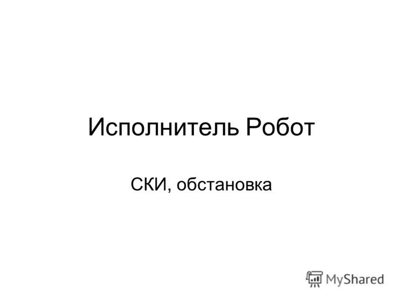 Исполнитель Робот СКИ, обстановка