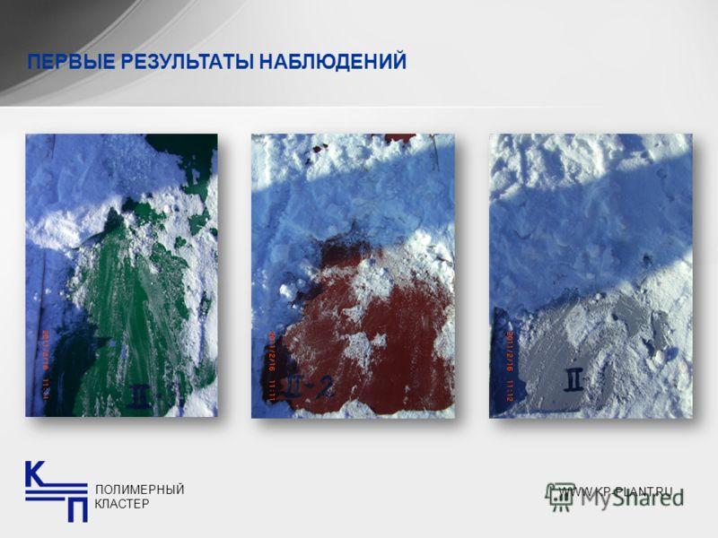 ПЕРВЫЕ РЕЗУЛЬТАТЫ НАБЛЮДЕНИЙ ПОЛИМЕРНЫЙ КЛАСТЕР WWW.KP-PLANT.RU