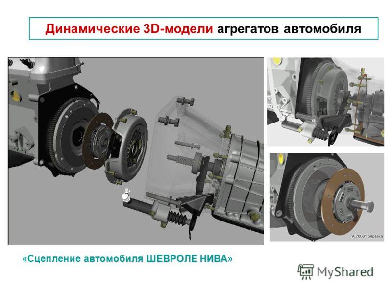 автомобиля ШЕВРОЛЕ НИВА «Сцепление автомобиля ШЕВРОЛЕ НИВА» Динамические 3D-модели агрегатов автомобиля