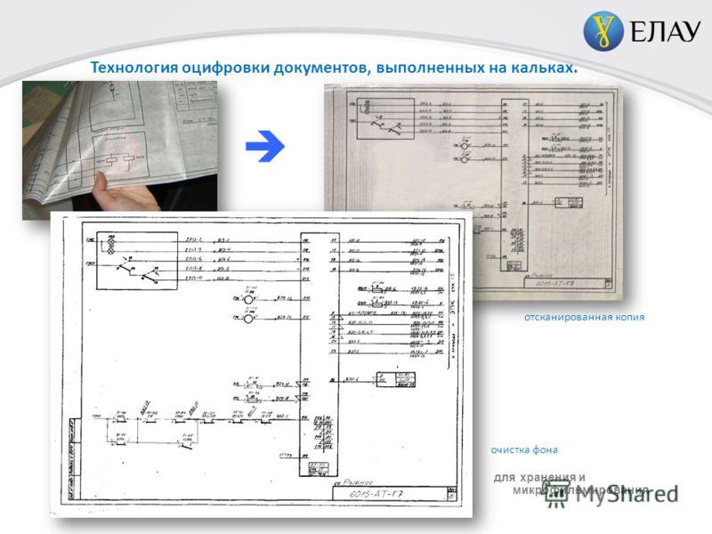 Технология оцифровки документов, выполненных на кальках. фото оригинала отсканированная копия очистка фона для хранения и микрофильмирования