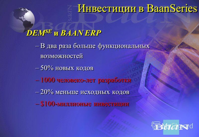 BaanSeries: Новая версия продукта и следующий шаг в эволюции систем управления предприятиями