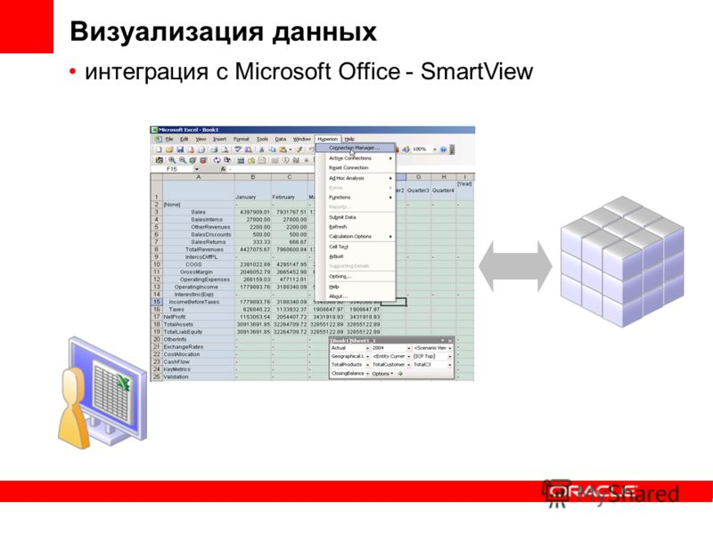 Визуализация данных интеграция с Microsoft Office - SmartView