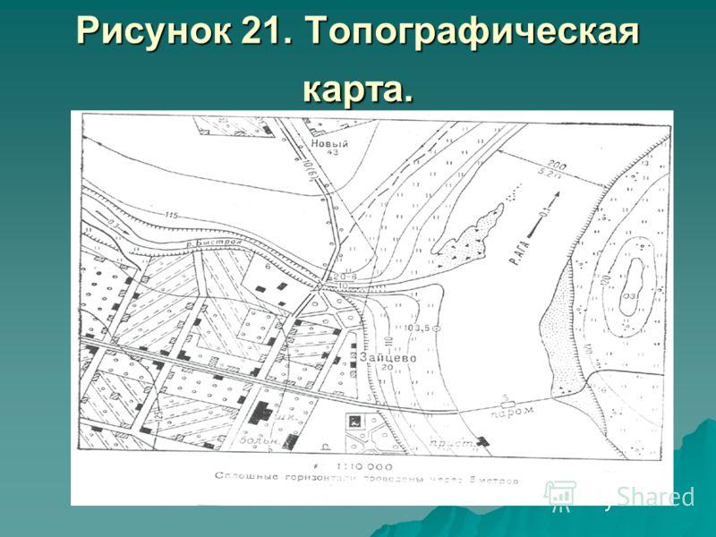 Рисунок 21. Топографическая карта.