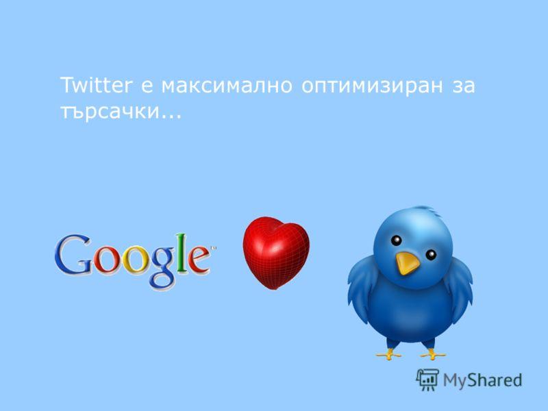 Twitter e максимално оптимизиран за търсачки...