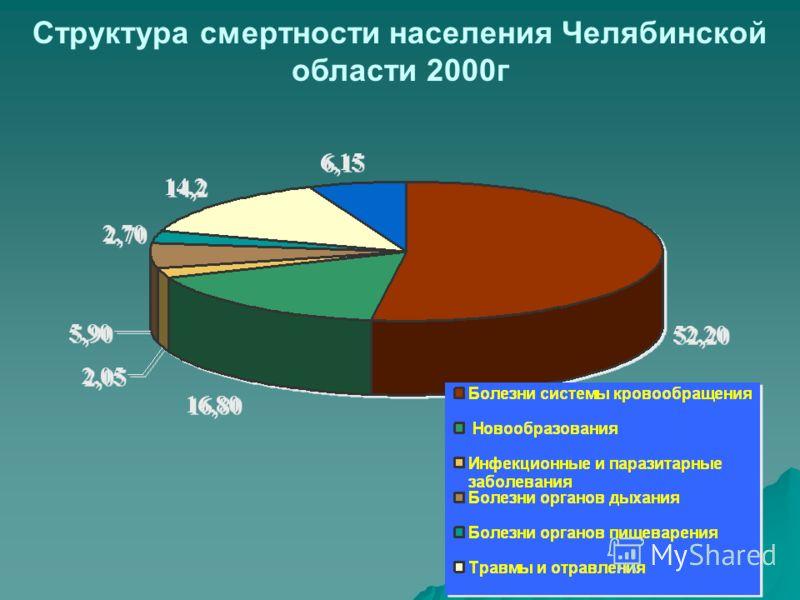 Структура смертности населения Челябинской области 2000г