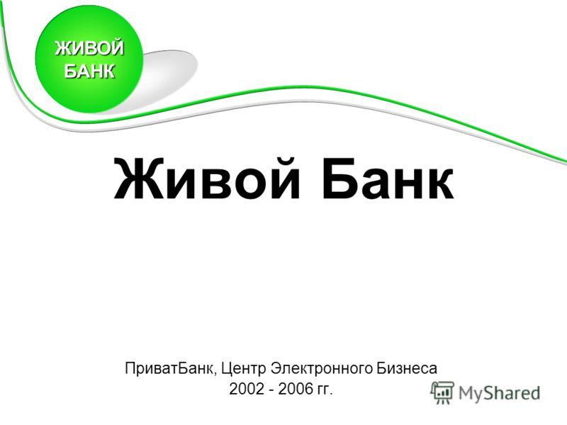 Живой Банк ПриватБанк, Центр Электронного Бизнеса 2002 - 2006 гг. ЖИВОЙБАНК