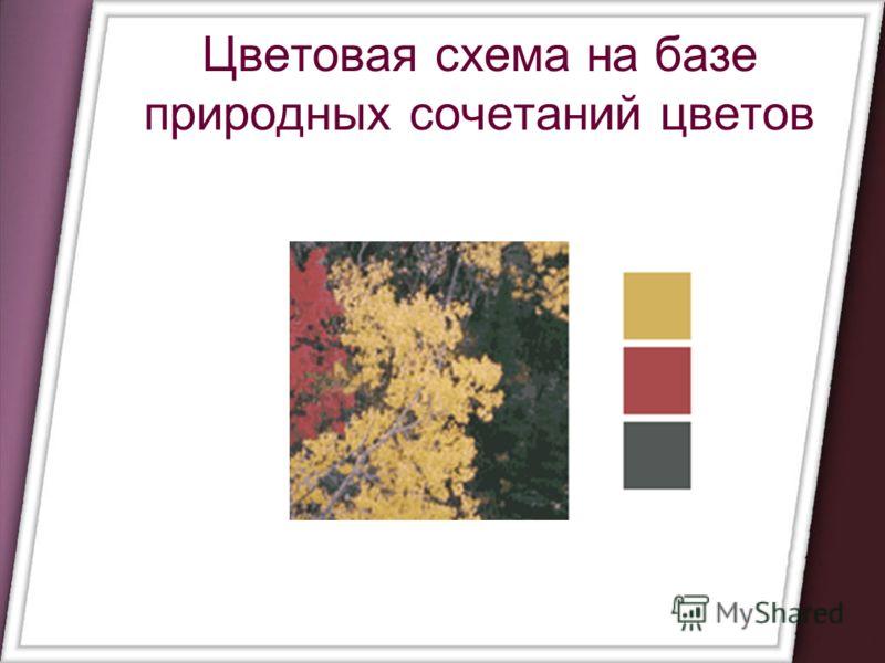 Цветовая схема на базе природных сочетаний цветов