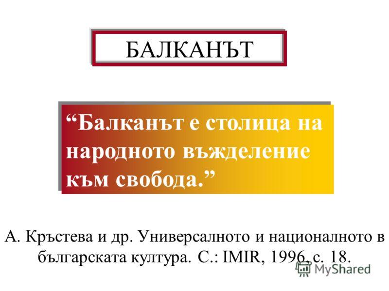 ПРАВОСЛАВИЕ А. Кръстева и др. Универсалното и националното в българската култура. С.: IMIR, 1996, с. 17. Екзистенциалната значимост на православието е пропорционална на неговата проблематичност. Българинът се усеща различен от помака не толкова защот