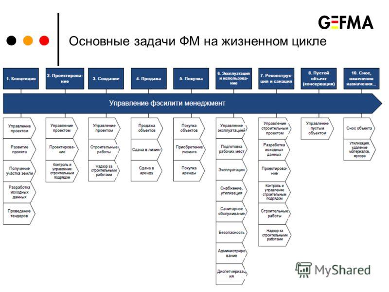 Основные задачи ФМ на жизненном цикле