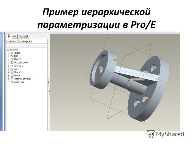 Пример иерархической параметризации в Pro/E