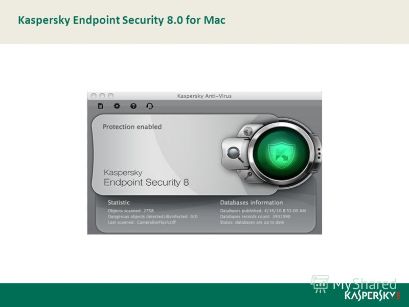 Kaspersky Endpoint Security 8.0 for Мас