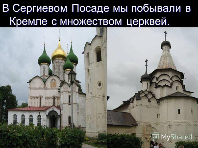 В Сергиевом Посаде мы побывали в Кремле с множеством церквей.