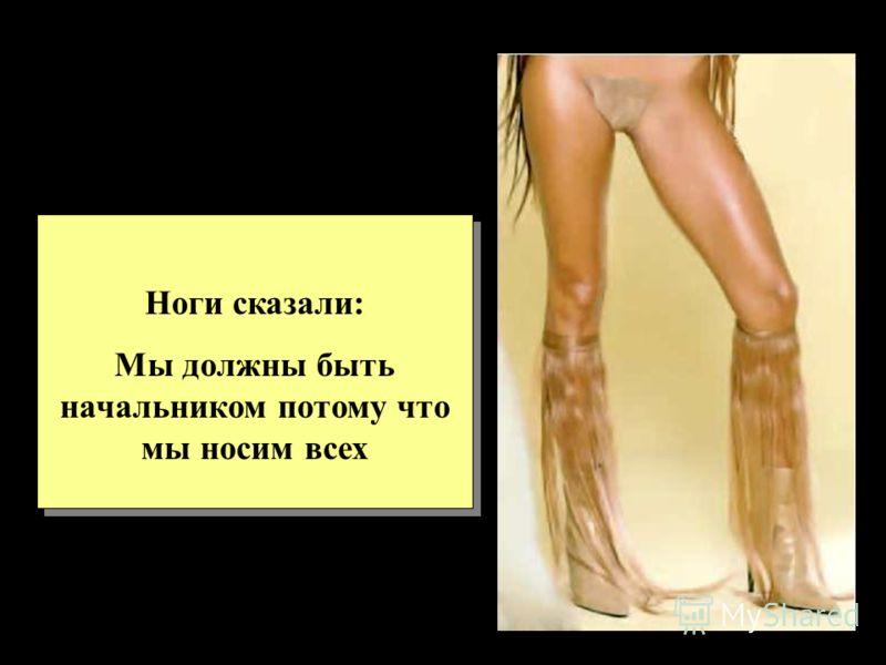 Ноги сказали: Мы должны быть начальником потому что мы носим всех Ноги сказали: Мы должны быть начальником потому что мы носим всех