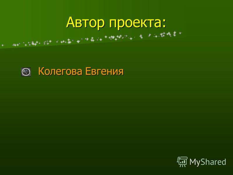 Автор проекта: Колегова Евгения