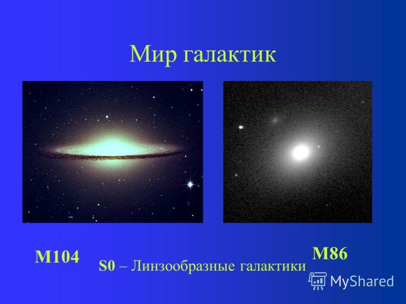 Мир галактик Эллиптические галактики E0 (M87)E5 (M107)