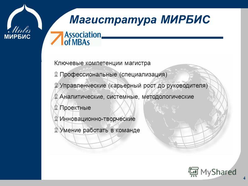 Об Институте Программы Учебный процесс Преимущества 4 Ключевые компетенции магистра ۩ Профессиональные (специализация) ۩ Управленческие (карьерный рос