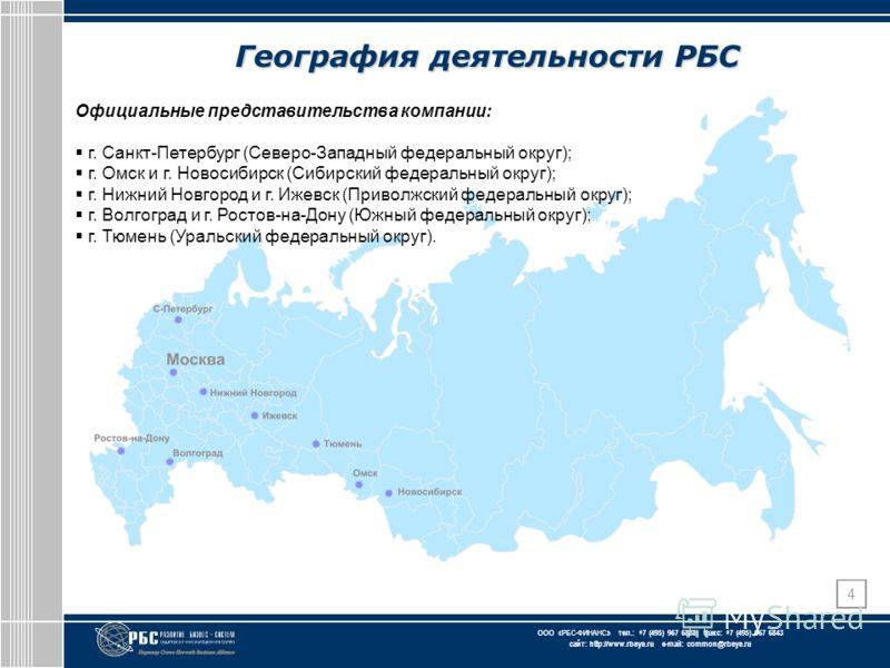 ЗАО « АКГ « Развитие бизнес-систем » тел.: +7 (495) 967 6838 факс: +7 (495) 967 6843 сайт: http://www.rbsys.ru e-mail: common@rbsys.ru ООО «РБС-ФИНАНС » тел.: +7 (495) 967 6838 факс: +7 (495) 967 6843 сайт: http://www.rbsys.ru e-mail: common@rbsys.ru